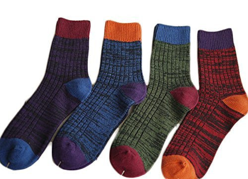 Meso Men's 3 Pairs Pack Cotton Crew Socks Casual Size 7-10(3 Color)
