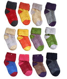 Meso 6 Pairs Children Cashmere Wool Love Hearts Socks Random Color