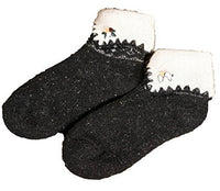 Lovely Annie Girls' Women's 2 Pairs Angora lambs Wool Thick Socks Floral