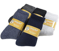 Lovely Annie Women's 2 Pairs Thick Wool Socks Solid Size 6-10