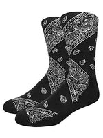 Women's 1 Pair Truly Beautiful Novelty Elite Bandana Socks LRB One Size