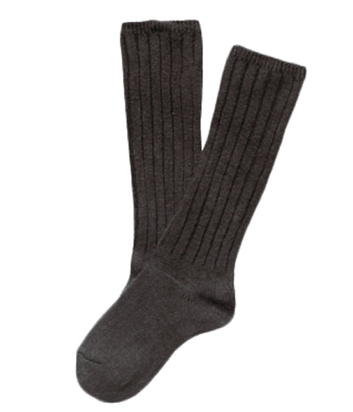 Lian LifeStyle Children 1 Pair Knee High Wool Socks Size 4-6Y (Coffee)