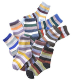 Lian LifeStyle Children's 10 Pairs Cashmere Wool Socks Stripped 4 Sizes