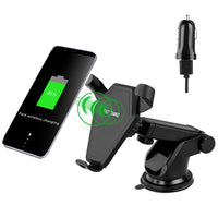 Lian LifeStyle Qi Wireless Fast Charge Car Mount for Samsung Galaxy S8, S7/S7 Edge, Note 8 5 & Standard Charge for iPhone X, 8/8 Plus & Qi Enabled Devices CW12