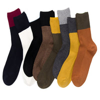Lian LifeStyle Big Girl's Women's 8 Pairs Color Collage Combed Cotton Socks HR1754 Casual Size 6-10