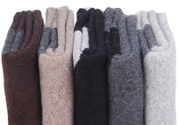 Lian LifeStyle Men's 4 Pairs Pack Extra Thick Cashmere Wool Socks Plain Size 7-10