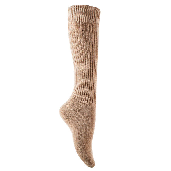 Lian LifeStyle Big Girl's 1 Pair Knee High Knitted Wool Socks stripped FS05 Size XL(Beige)