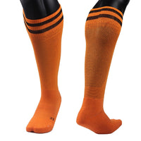 Lian LifeStyle Men's 1 Pair Knee Length Sports Socks for Baseball/Soccer M(Orange)