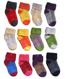 Lian LifeStyle 8 Pairs Children Wool Love Hearts Socks Random Color