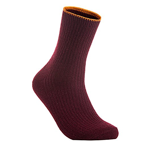 Meso Women's 4 Pairs Cashmere Wool Crew Socks MHR1612 Casual Solid Size 6-9
