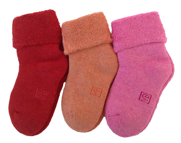 Lian LifeStyle Children 6 Pairs Thick Wool Blend Crew Socks Solid Size 0M-2Y