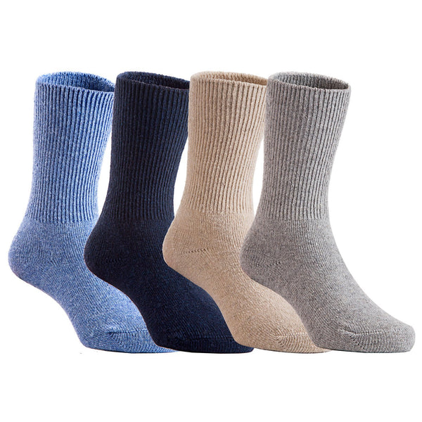 Chenggongfang Children 4 Pairs Pack Wool Socks Plain Random Color
