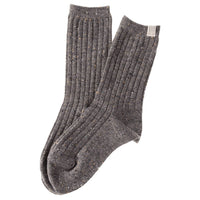 Lian LifeStyle Big Girl's 4 Pairs Wool Blend Peckled Crew Socks HR1765 Casual Size L/XL