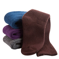 Lian LifeStyle Women's 2 Pairs Knee High Knitted Wool Socks Striped Size 7-9