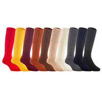 Lian LifeStyle Unisex Baby Children 3 or 6 Pairs Knee High Wool Blend Boot Socks Random Color