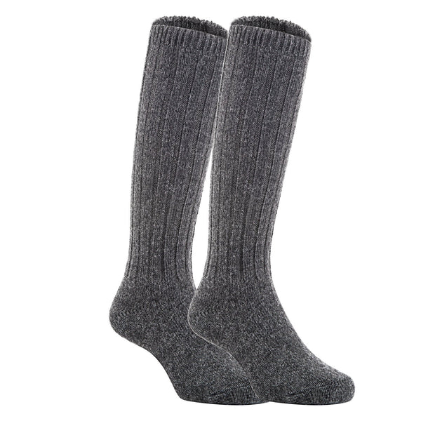 Lian LifeStyle Unisex Baby Children 4 Pairs Knee High Wool Blend Boot Socks Size 4-6Y(Dark Gray)