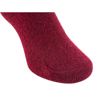 Lian LifeStyle Children 1 Pair Knee High Wool Socks Size 4-6Y (Wine)