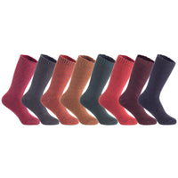 Lian LifeStyle Big Girl's Women's Soft Wool Acrylic Blend Hiker Crew Socks HR1414 Size 6-9 or L/XL