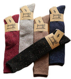 Lovely Annie Women's 5 Pairs Pack Knee High Cotton Boot Socks Size 6-9 (5 Color)