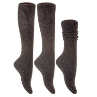 Lian LifeStyle Women's 6 Pairs Pack High Crew Wool Boot Socks Size 7-9 6 Colors