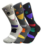 Women's 3 Pairs Truly Beautiful Novelty Socks Various Patterns LNVT One Size