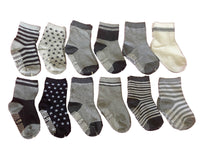 Lovely Annie Unisex Children 6 Pairs Pack Non-Skid Cotton Socks Random Color