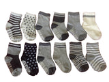 Meso Unisex Children 6 Pairs Pack Non-Skid Cotton Socks One Size Random Color