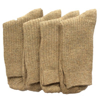 Lian LifeStyle Men's 4 Pairs Pack Cashmere Wool Crew Socks Size 7-9 Casual