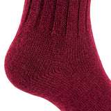 Lian LifeStyle Unisex Baby Children 4 Pairs Knee High Wool Blend Boot Socks Size 4-6Y(Wine)