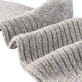 Lian LifeStyle Men's 1 Pair Knitted Wool Crew Socks One Size 7-9 (Light Gray)