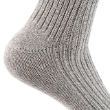 Lian LifeStyle Men's 1 Pair Knitted Wool Crew Socks One Size 7-9 (Beige)