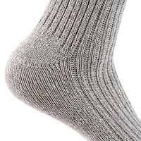 Lian LifeStyle Men's 1 Pair Knitted Wool Crew Socks One Size 7-9 (Dark Gray)