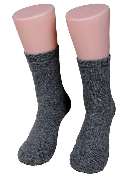 Lian LifeStyle Men's 1 Pair Extra Thick Cashmere Wool Socks Plain Color Size 9-11(Dark Gray)