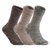 Lian LifeStyle Men's 3 Pairs Pack Wool Socks Assorted Mixed Color Size 8-10