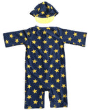 Lian LifeStyle Boy's 2 Pcs Swim Set, UPF 50+ Sun Protection Star