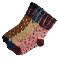 Lovely Annie Women's 3 Pairs Pack Cotton Mixed Color Socks Size 7-9 3 Color