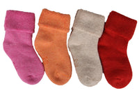 Meso Girl's 4 Pairs Pack Thick Cashmere Wool Socks Solid Color