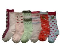 Meso Unisex Children 6 Pairs Pack Non-Skid Knee High Cotton Socks 6M-3Y
