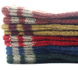 Meso Women's 5 Pairs Pack Double Needle Wool Socks Size 7-9 Multiple Color