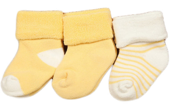 Lian LifeStyle Unisex Children 3 Pairs Pack Combed Cotton Socks 0-24M