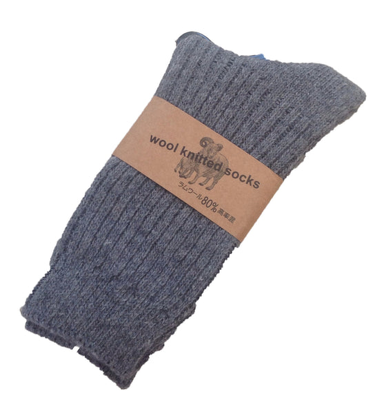 Meso Men's 6 Pairs Knitted Wool Socks One Size 9-11