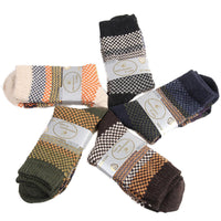 Meso Women's 5 Pairs Pack Wool Socks Casual Classic Square Size 7-8