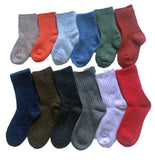 Lian LifeStyle Children 6 Pairs Cashmere Wool Socks Random Color
