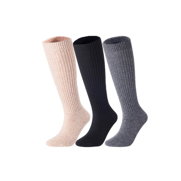 Lovely Annie Women's 3 Pairs Exceptional Knee High Wool Socks AFS05 Size 6-9