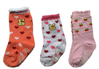 Meso Unisex Children 3 Pairs Pack Non-Skid Cotton Crew Socks 6M-3 Y