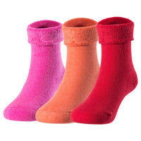 Lovely Annie Children 3 or 6 Pairs Cashmere Wool Socks Plain Color