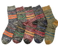Meso Women's 5 Pairs Pack Combed Cotton Mixed Color Socks Size 7-9(5 Color)