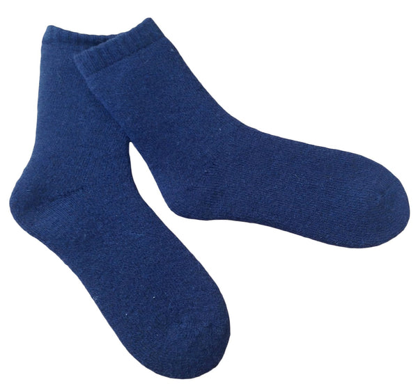 Lian LifeStyle Men's 4 Pairs Thick Wool Socks Solid Size 7-11