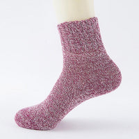 Size 32cm Wool Womens Socks High Quality Cashmere Thick Warm Socks Winter Fashion Solid 5 Colors Socks #LSN