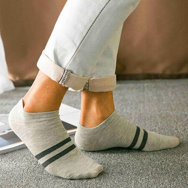 1Pair Simple Style Unisex Socks Women 2017 Autumn Fashion Stripe Cotton Sock Slippers Invisible Striped Female Business Socks